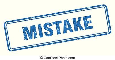 mistake stamp. mistake square grunge sign. mistake
