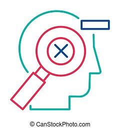 Mistakes correction, error management linear vector pictogram. Failure control thin line icon