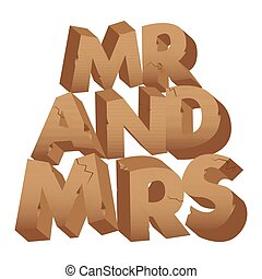Mister and Missis made of stones. - Mister and Missis sign ...