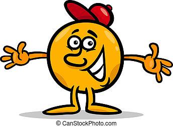 Illustration of Funny Mister Ball Cartoon Character