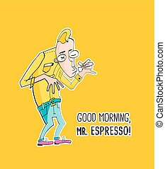 Mister Espresso Coffee in hipster style