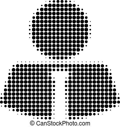 Mister Halftone Dotted Icon