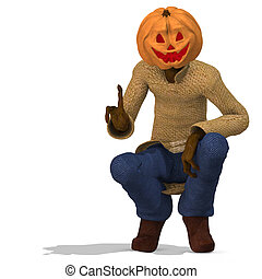 Mister Pumpkin #05 - Funny Punpkin Man, perfect for...