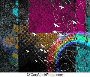 misterie, regenboog, achtergrond