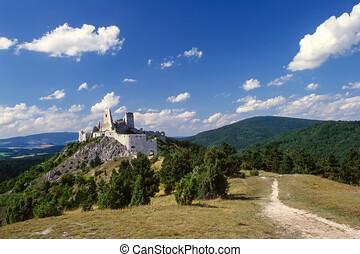 misterioso, carpathians, slovacchia, castello, elizabeth, erzsebet, bathory, cachtice, posto