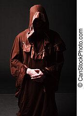 misterioso, católico, monje