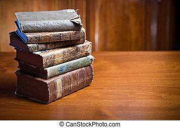 misterioso, dall'aspetto, books., anceint