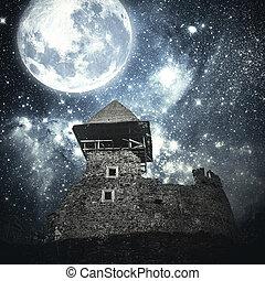 misterioso, medievale, castle.