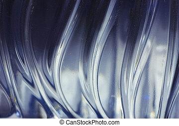 misterioso, ondulato, metallo, struttura