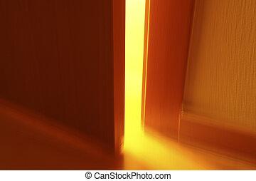 misterioso, puerta