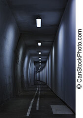 misterioso, túnel
