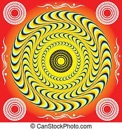 mistico, anelli, (motion, illusion)