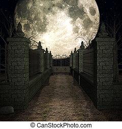 mistico, cimitero