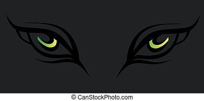 mistico, eyes., astratto