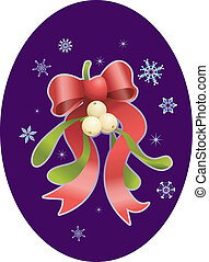 mistletoe christmas  illustration