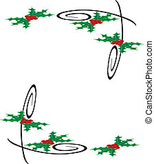 Mistletoe Design With Frame