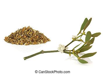 Mistletoe Dried and Leaf Sprig