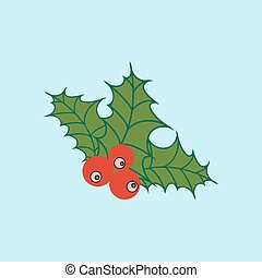 Vector Mistletoe Icon Illustration Of A