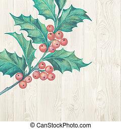 mistletoe., kerstmis