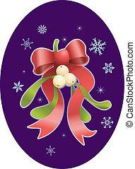 mistletoe, natal, ilustração