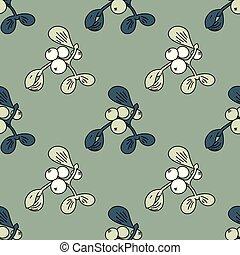 Mistletoe seamless pattern