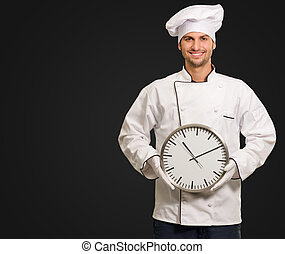 mistrz kucharski, ściana, samiec, dzierżawa, zegar