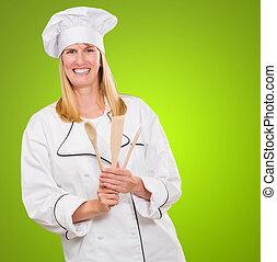 mistrz kucharski, drewniana łyżka, samica, dzierżawa