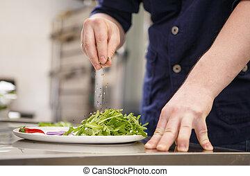 mistrz kucharski, jadło, przygotowując