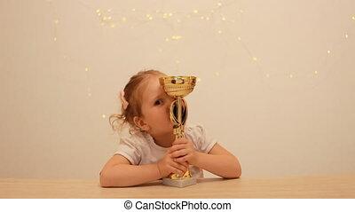 mistrzostwo, filiżanka, uściski, competition., rejoices,...