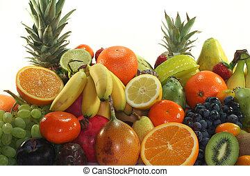 mistura, fruta