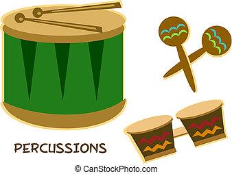 mistura, instrumentos percussão