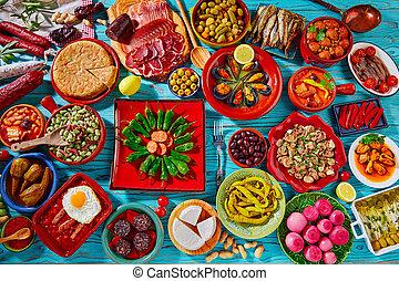 mistura, tapas, maioria, popular, receitas, espanha