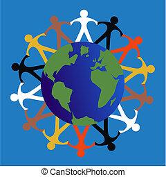 misturado étnico, pessoas