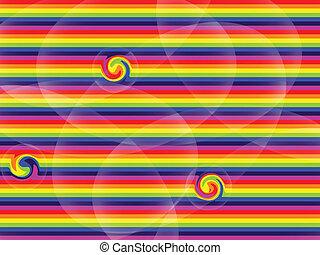 misturado, arco íris, textura