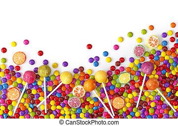 misturado, coloridos, doces