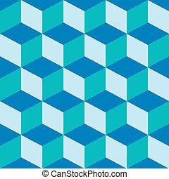 misturado, padrão, azul, piscodelica