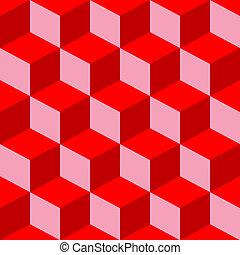 misturado, padrão, piscodelica, vermelho