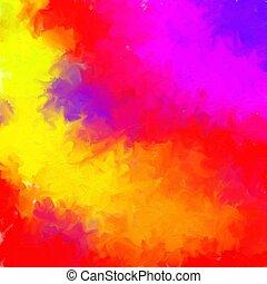 misturado, pintado, cores, fundo