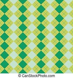 misturado, suéter, verde, cores, textura
