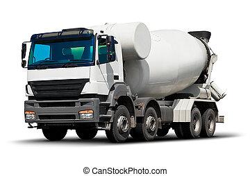 misturador concreto, caminhão