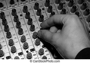 misturando, áudio