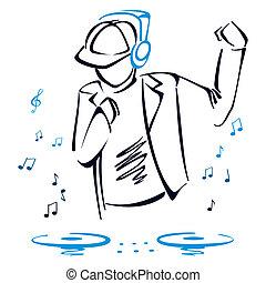 misturando, dj, música