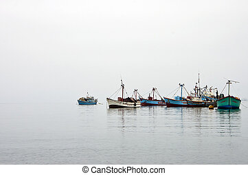 Misty Fishing Boats 2