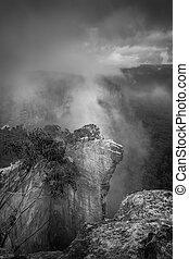 Misty fog at Hanging Rock Blue Mountains