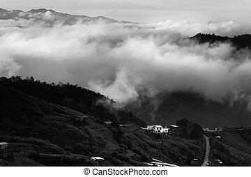 Misty hills at Borneo