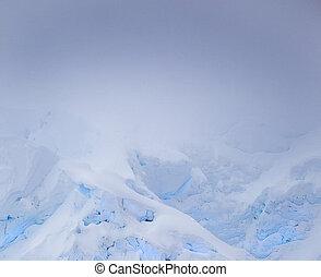 Misty iceberg in the morning
