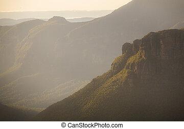 Misty light Blue Mountains Australia