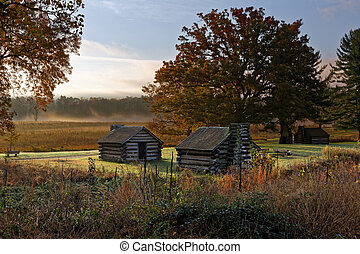 Misty Morning at Valley Forge National Historic Park - A...