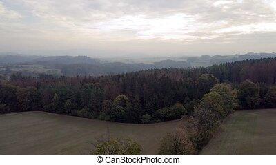 morning autumn landscape on highland