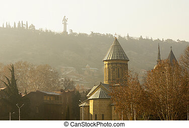 Misty morning in Old Tbilisi